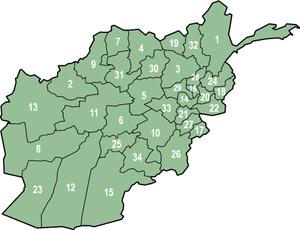 Provinces afghanes