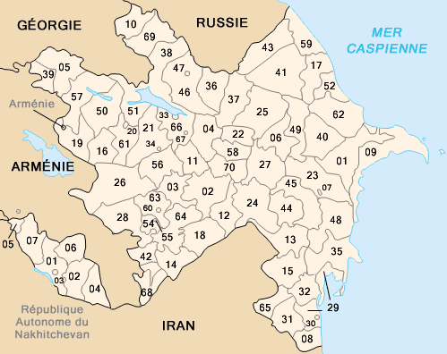 Districts de l'Azerbaïdjan