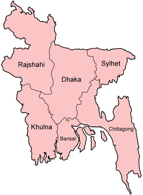 Divisions du Bangladesh