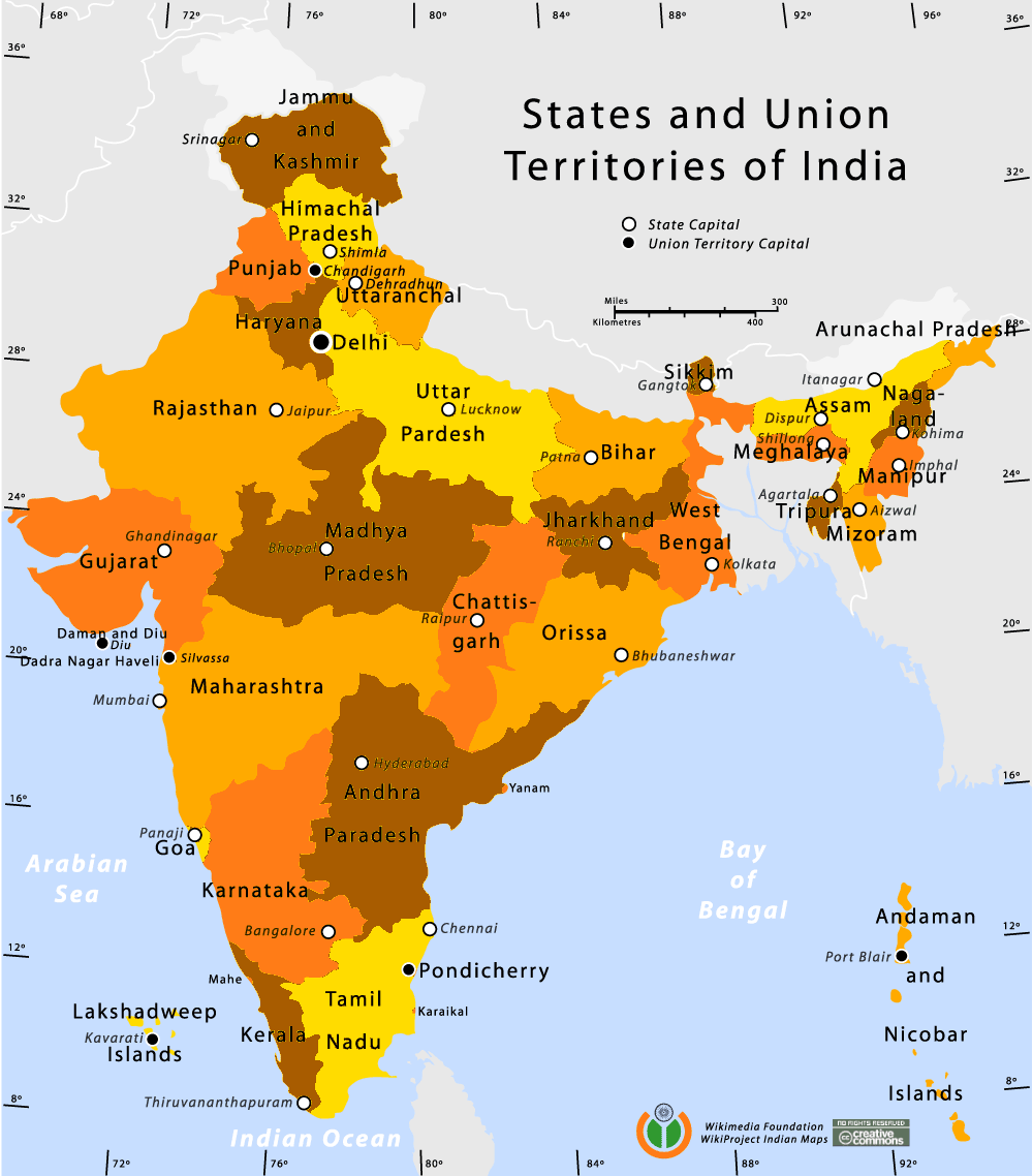 Divisions de l'Inde