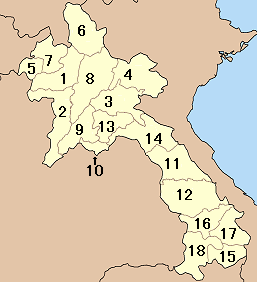 Divisions du Laos