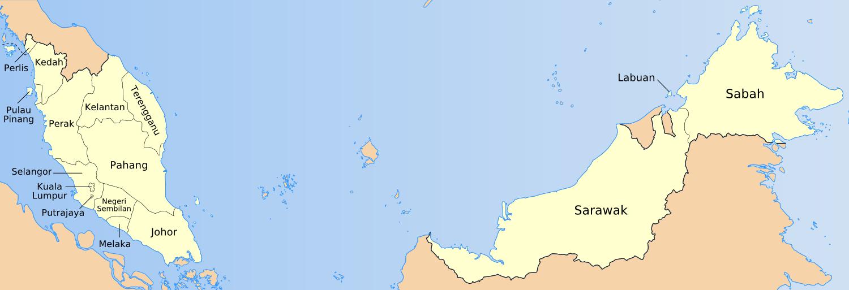 Divisions de la Malaisie
