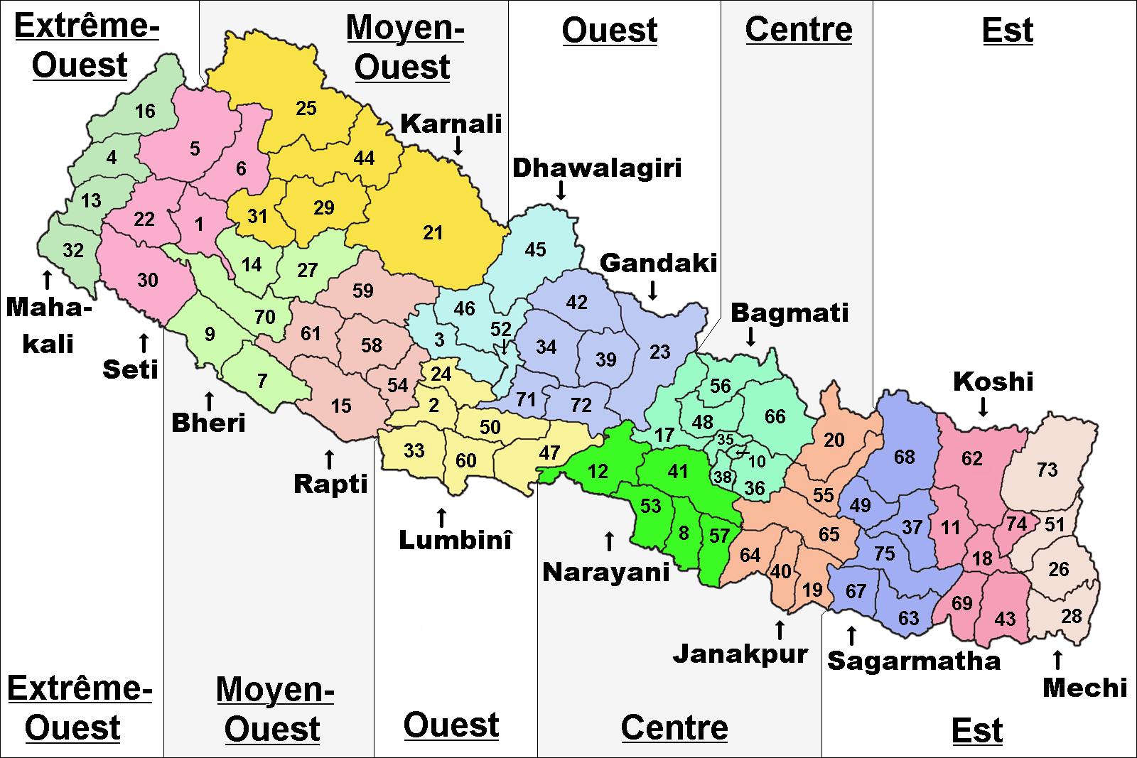 Divisions du Népal