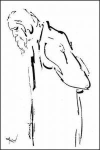 Croquis de Tagore par Satyajit Ray.