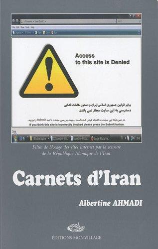 La couverture de «Carnets d'Iran», d'Albertine Ahmadi.