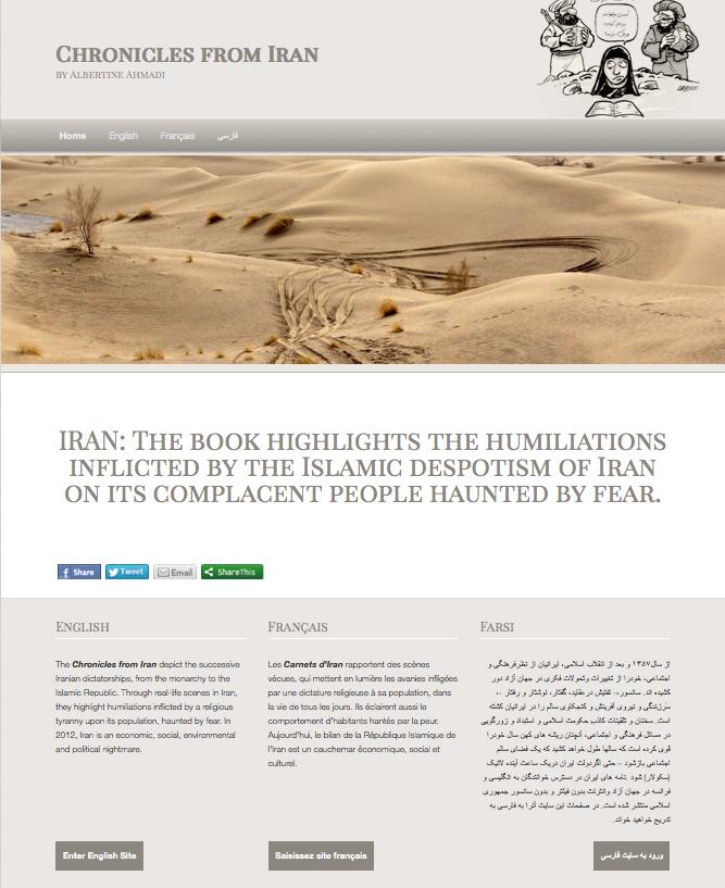 Page d'accueil du site Pedziran.