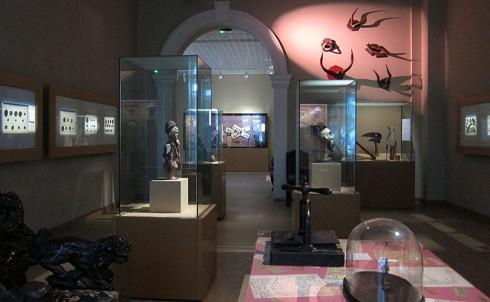 Intérieur du Musée des arts d'Afrique et d'Asie.