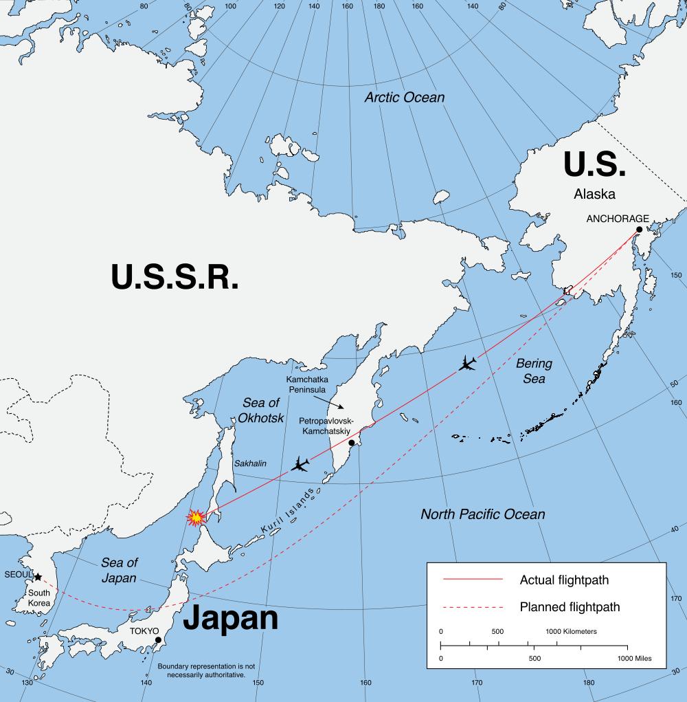 Le plan de vol de la Korean Aairlines