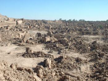 Destruction de la citadelle de Bam
