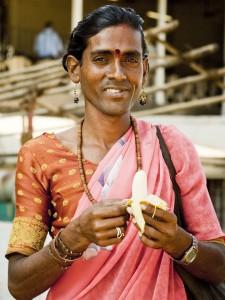 Un hijra à Goa en Inde.