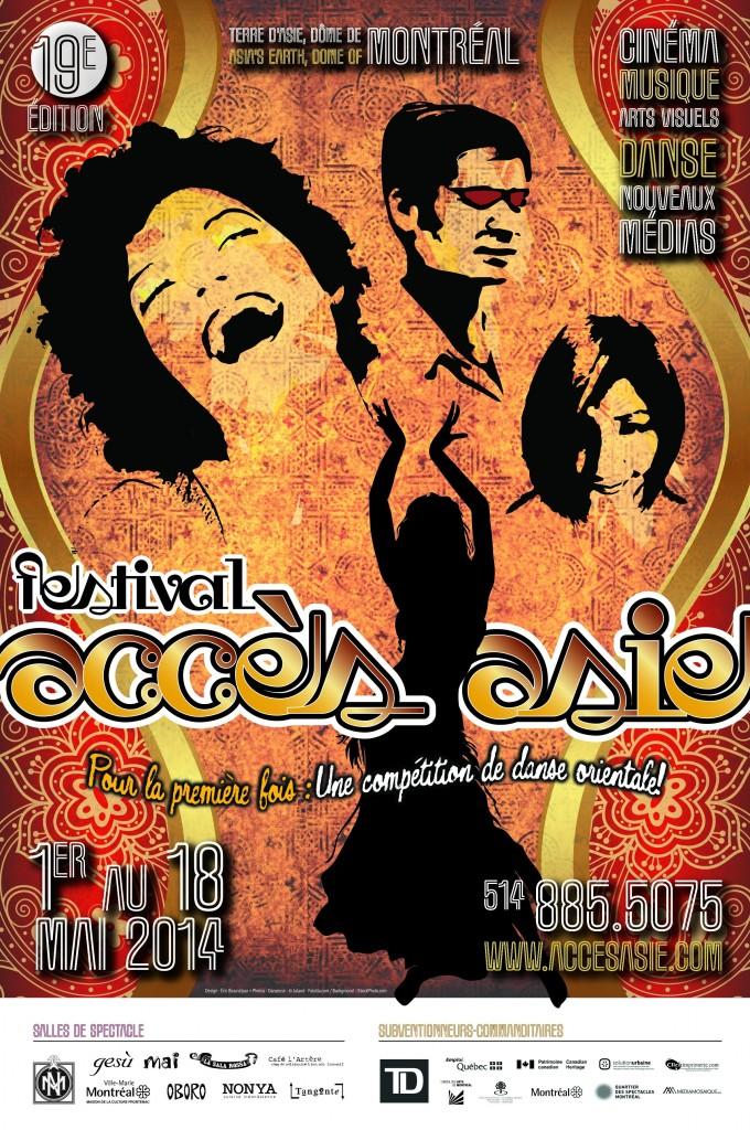 Affiche du 19e festival Acces Asie
