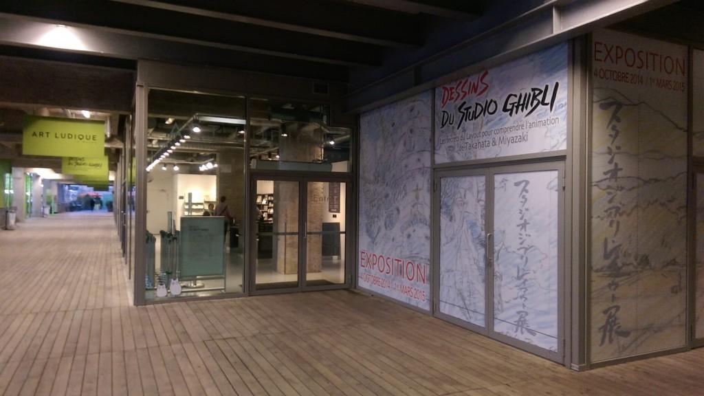 entrée de l'exposition Ghibli