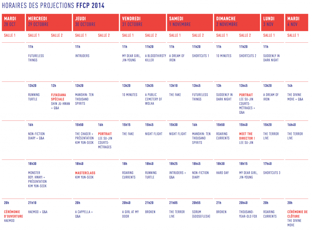 Programme FFCP 2014