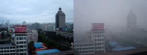 Un jour de beau temps à Pékin (août 2005).