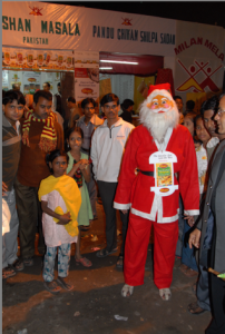 Santa Claus in Kolkota.