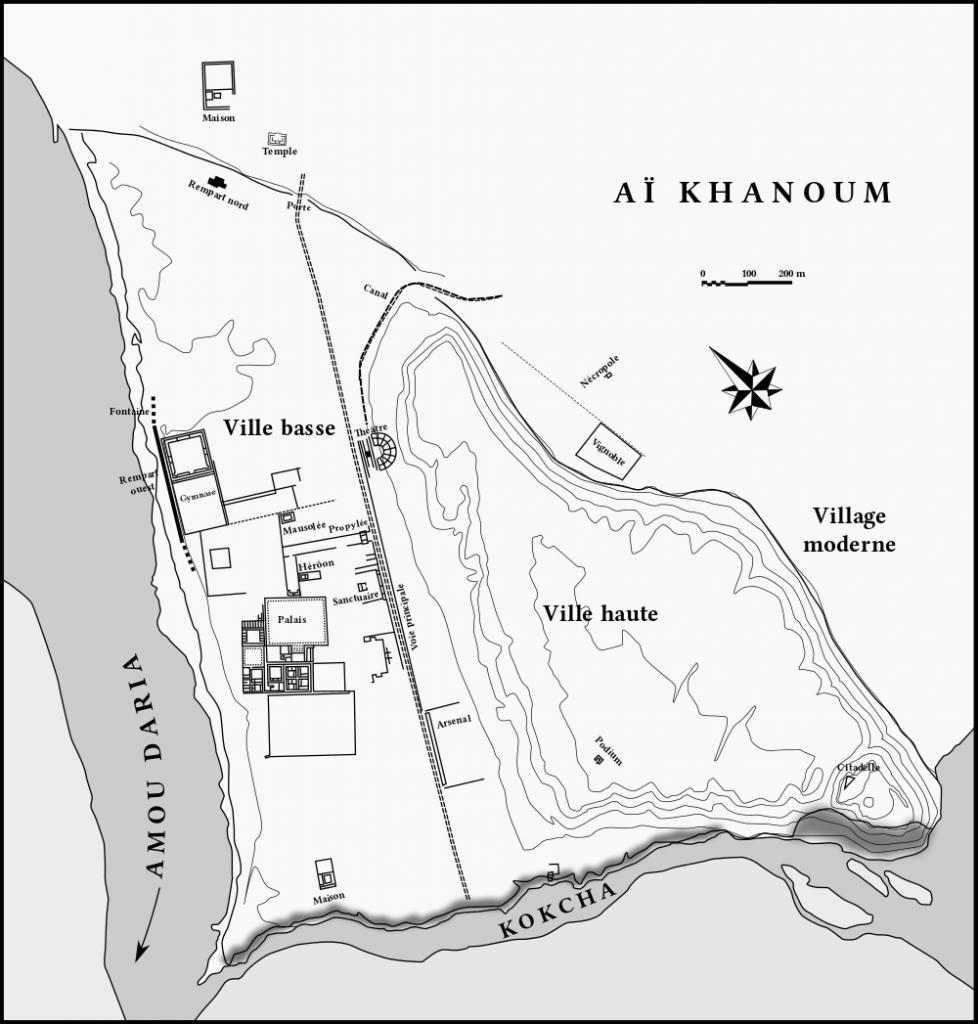 Plan du site archéologique de Aï Khanoum