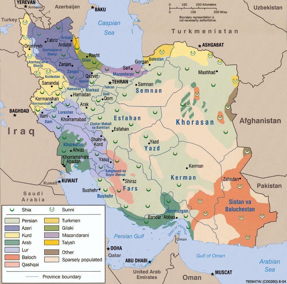 La diversité ethnique et religieuse de l'Iran