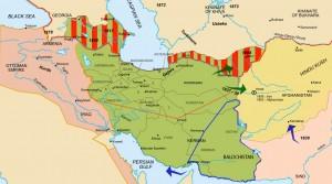 Les changements de frontières de l'Iran