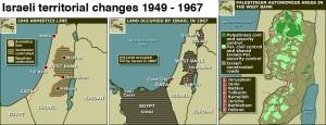 Les territoires israéliens de 1949 à 1967
