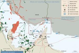 Le pétrole dans le détroit d'Ormuz