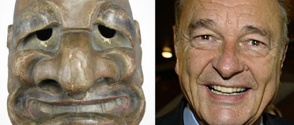Chirac et son masque sosie