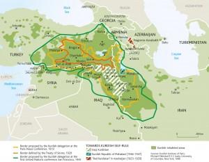 Territoires occupés par les Kurdes