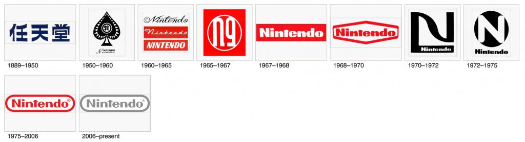 Le logo de Nintendo à travers les ans