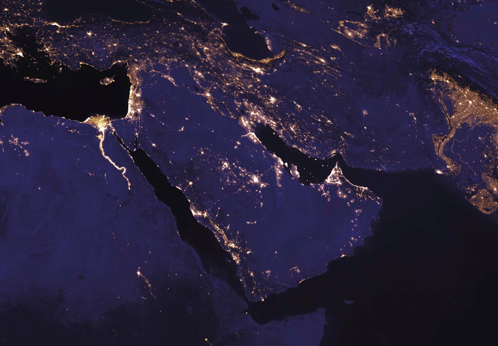 Le Moyen-Orient, la nuit