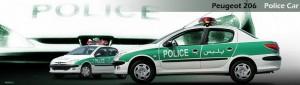Véhicules de police Peugeot 206