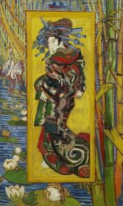 «Japonaiserie» (d'après Keisaï Yeisen), 1887. Huile sur coton, 110,3 × 60 cm. Musée Van Gogh, Amsterdam (Fondation Vincent van Gogh)