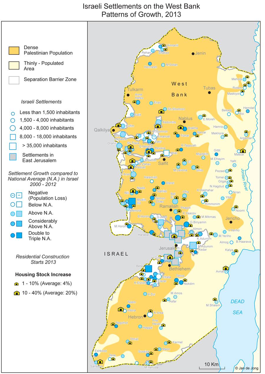 Les colonies israéliennes en Cisjordanie