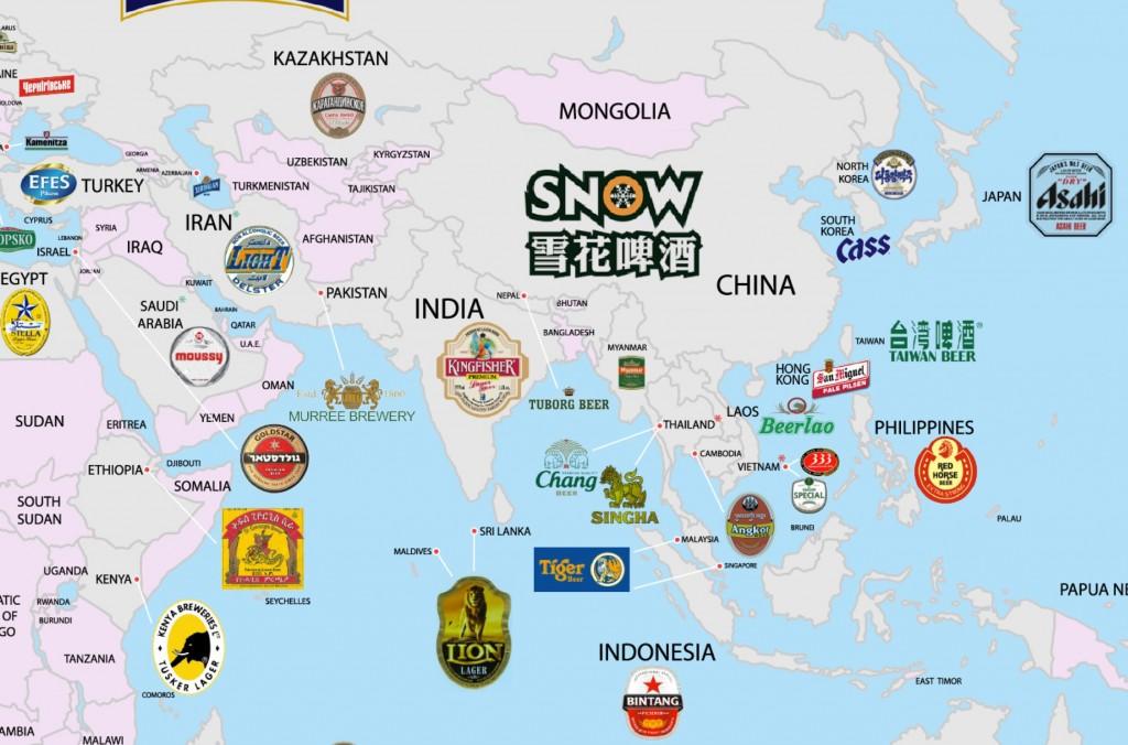 Les bières préférées en Asie