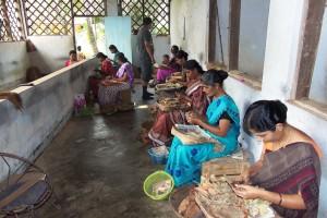 Manufacture de bidis près de Nileshwaram au Kerala