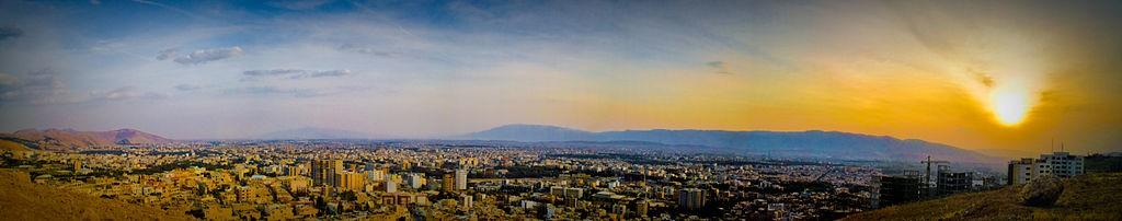 Vue panoramique de Shiraz