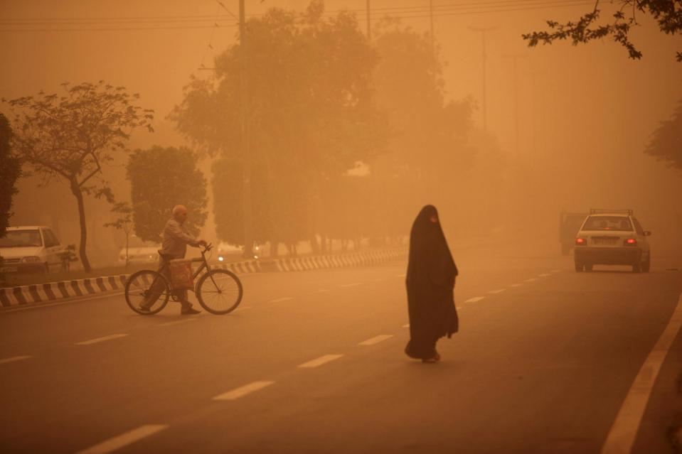 La pollution à Ahvaz