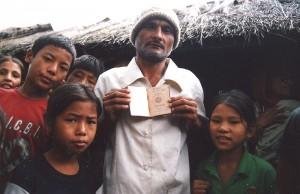 Réfugiés Lotshampa dans le camp de Beldangi, au Népal