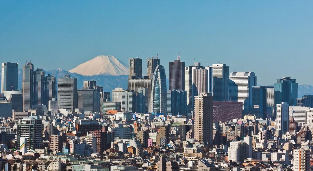 Tokyo et ses gratte-ciel avec vue du Mont Fuji