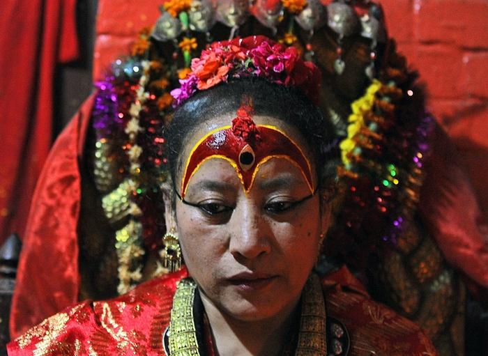 Dhana Kumari Bajracharya à Katmandou en mai 2015