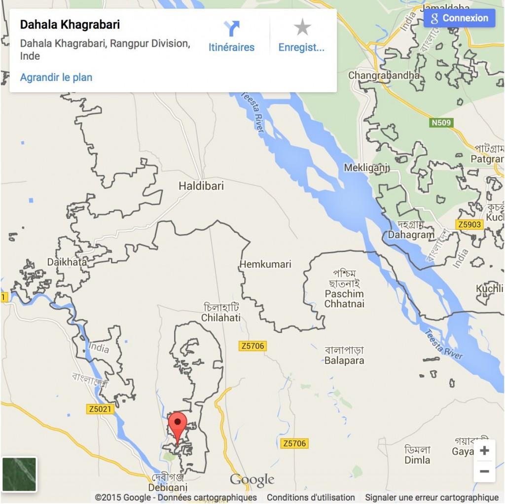 Les enclaves entre l'Inde et le Bangladesh