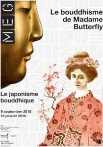 affiche de l'exposition « Le bouddhisme de Madame Butterfly»