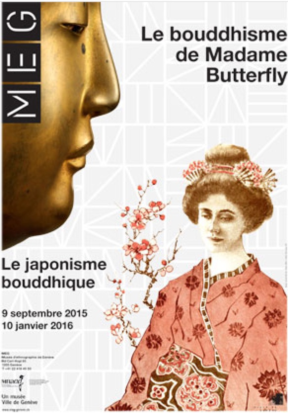 affiche de l'exposition «Le bouddhisme de Madame Butterfly»
