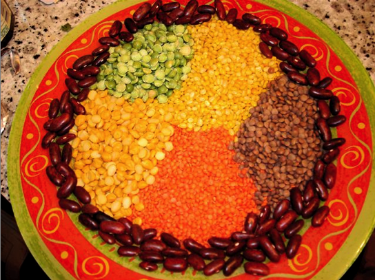 Different kind of lentils