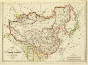 Carte de l'Empire Chinois et du Japon, 1833, Conrad Malte-Brun, 1837.