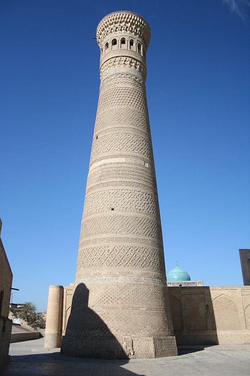 Le minaret Kalon, construit en 1127, culmine à plus de 48 m.