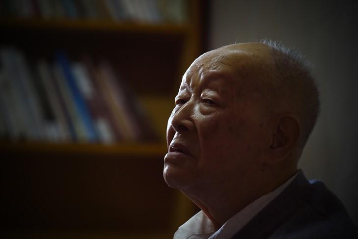 Zhou Youguang chez lui à Pékin, le 11 Janvier 2015