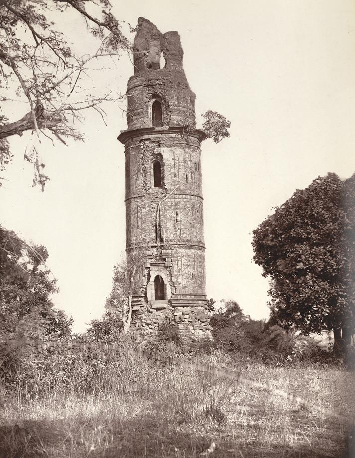 Le Firouz minar en 1860.