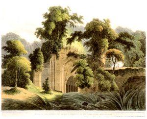 Ruines musulmanes à Gaur (lithographie du XIXe siècle).