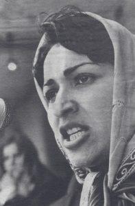 Meena lors d'un discours en 1982.
