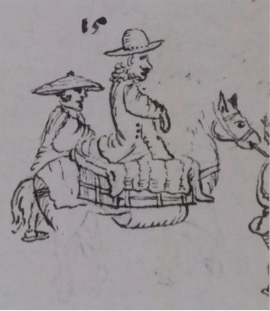 Auto-portrait par Engelbert Kaempfer. Detail (BL Sloane Ms 3060 fol. 502).