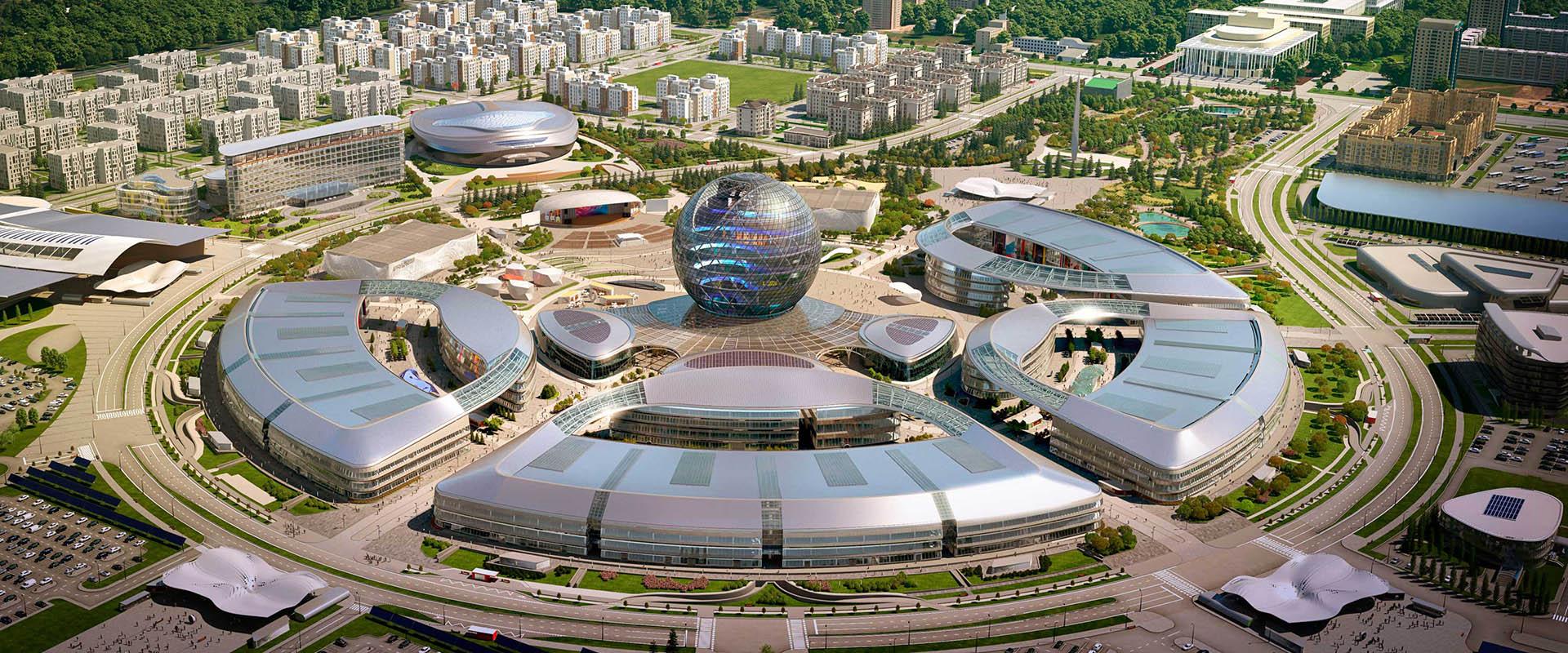 Bannière de l'Expo 2017 Astana